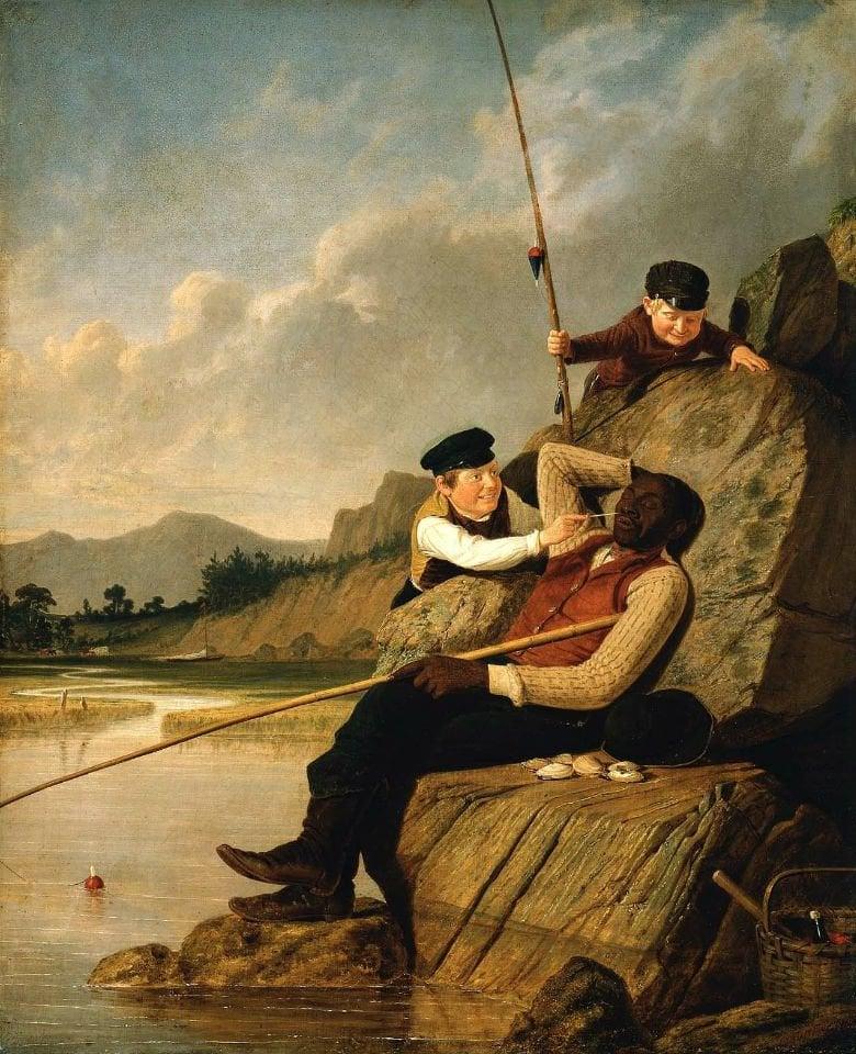 Waking Up 1851   James Goodwyn Clonney   oil painting