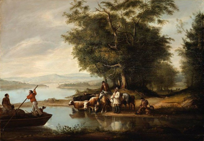 Landscape with Cows 1816 | Alvan Fisher | oil painting