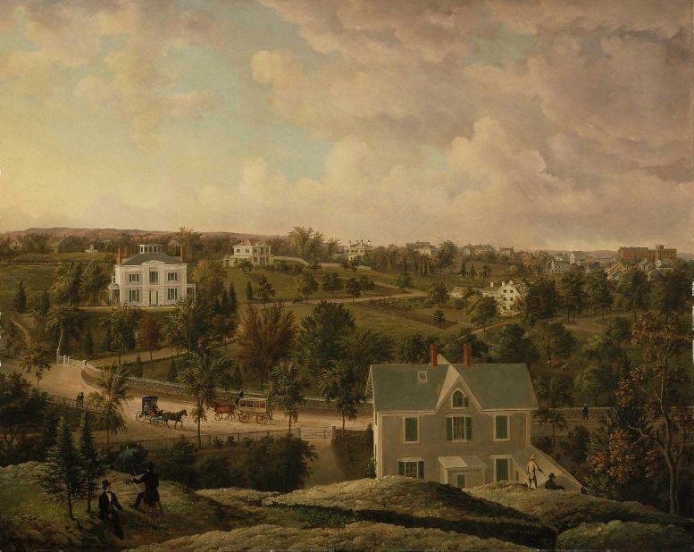 View of Roxbury 1854 | J W A Scott | oil painting