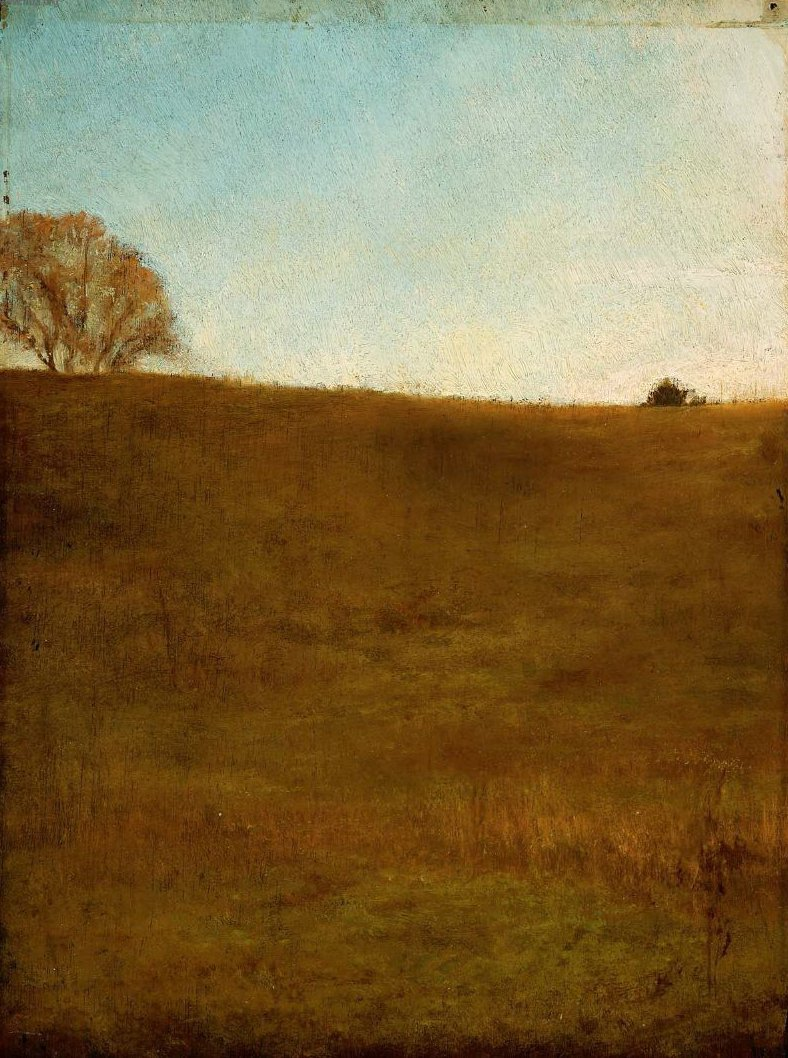 Autumn October Hillside Noonday Glen Cove Long Island 1860 | John La Farge | oil painting