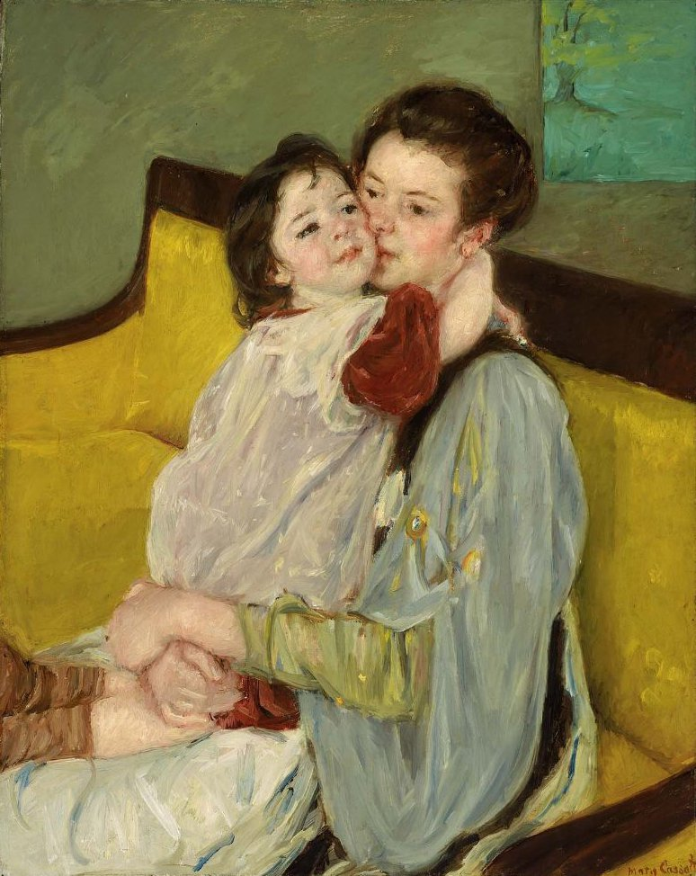 Caresse Maternelle 1902 | Mary Stevenson Cassatt | oil painting
