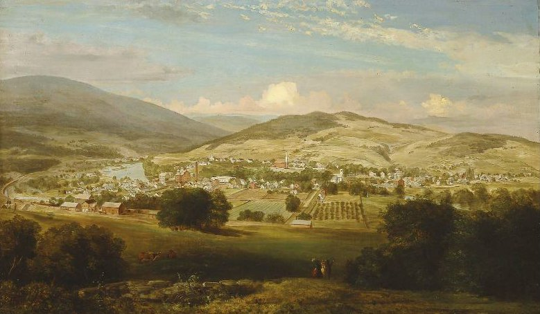 Ludlow Vermont after 1848 | Unidentified artist | oil painting