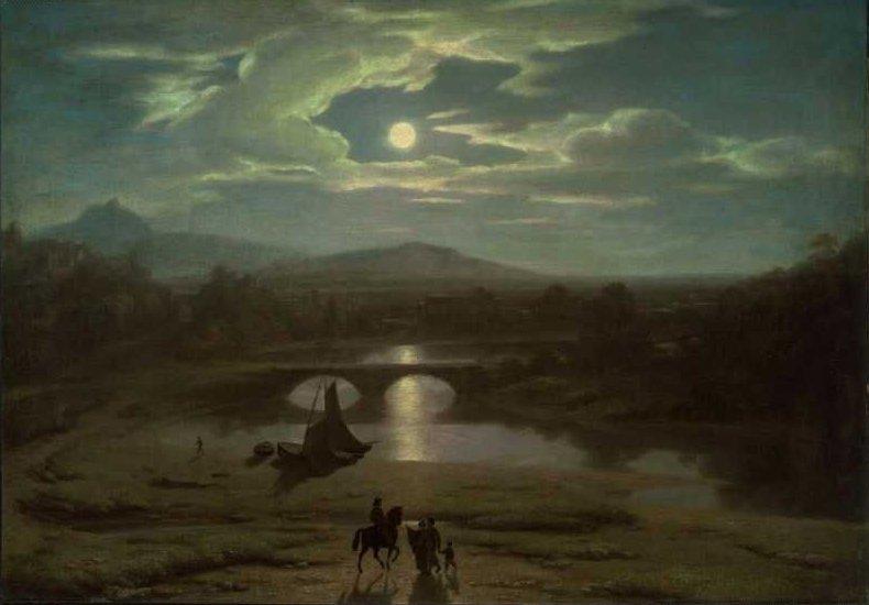 Moonlight 1819 | Washington Allston | oil painting