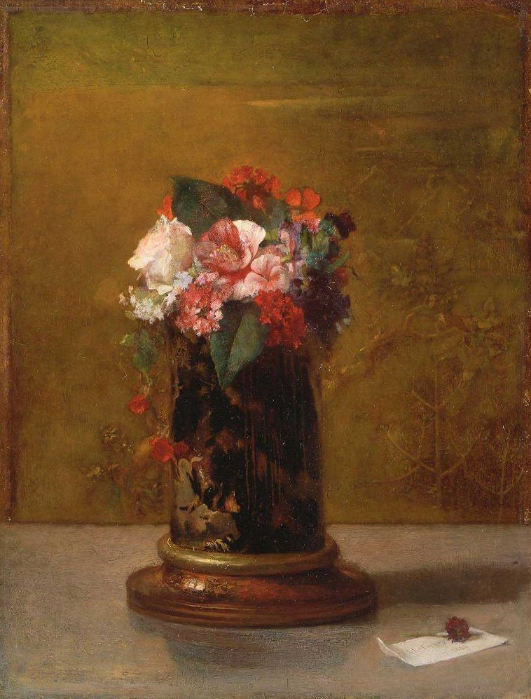 Vase of Flowers 1864 | John La Farge | oil painting