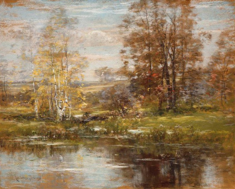 New England Landscape 1887 | John Appleton Brown | oil painting