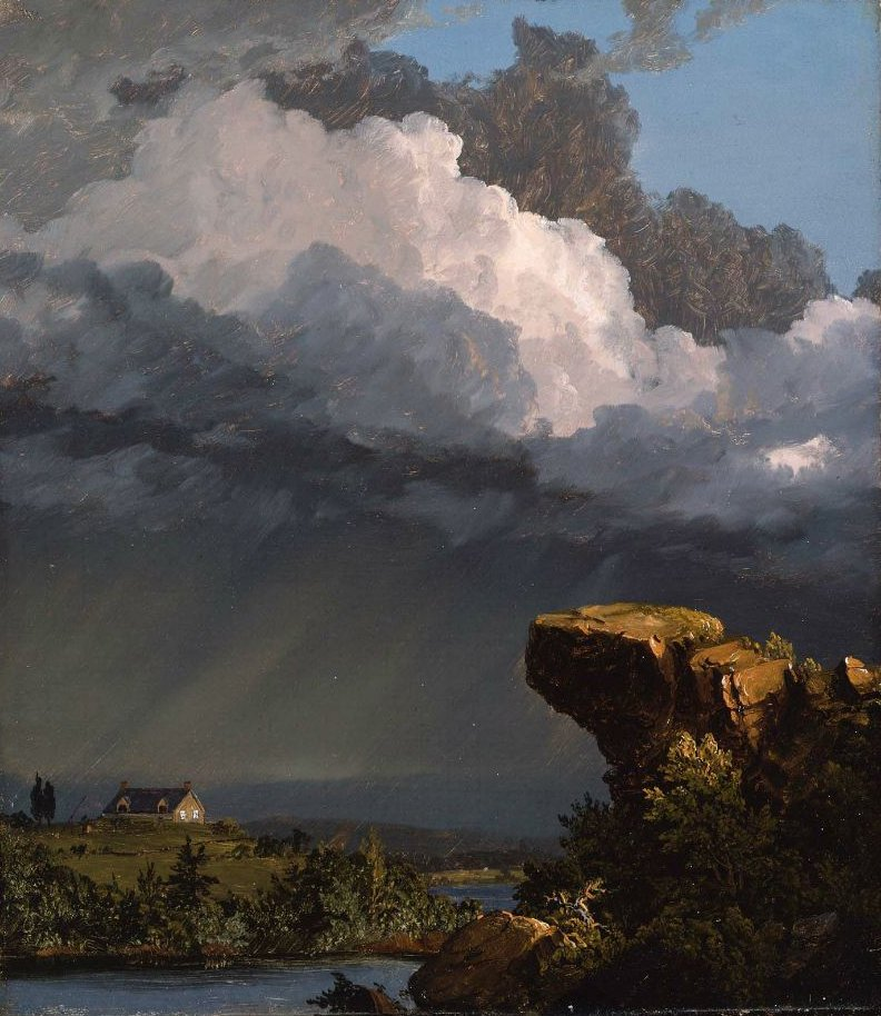 A Passing Storm 1849 | Frederic Edwin Church | oil painting
