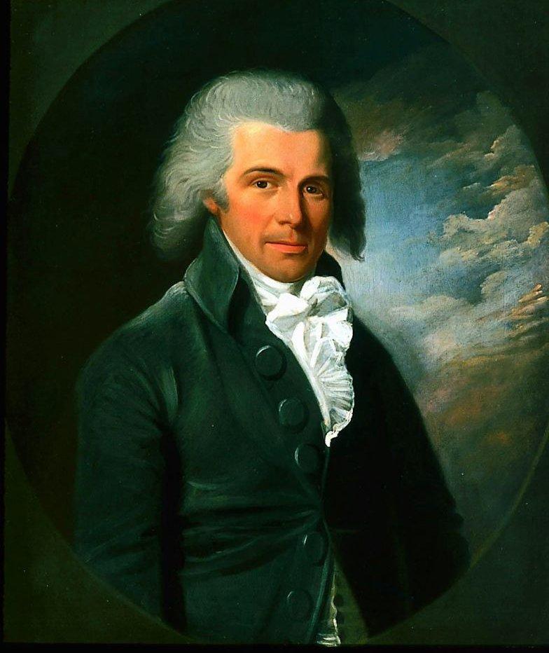 Man in a Gray Coat 1788   John Johnston   oil painting