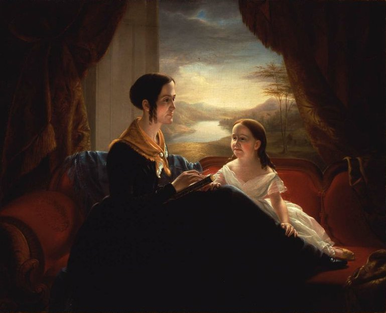 Catharine Wheeler Hardy and Her Daughter 1845 | Jeremiah Pearson Hardy | oil painting