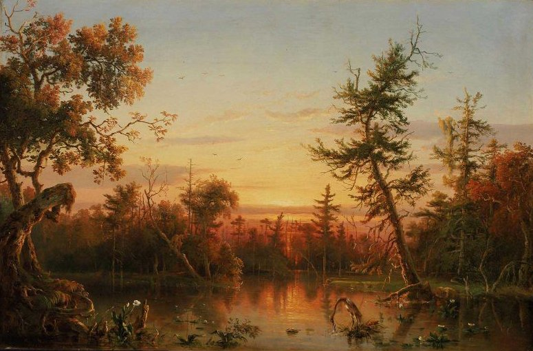 View Dismal Swamp North Carolina 1850 | Francois Regis Gignoux | oil painting