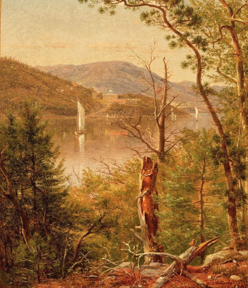 View of West Point on the Hudson 1861 | Thomas Worthington Whittredge | oil painting
