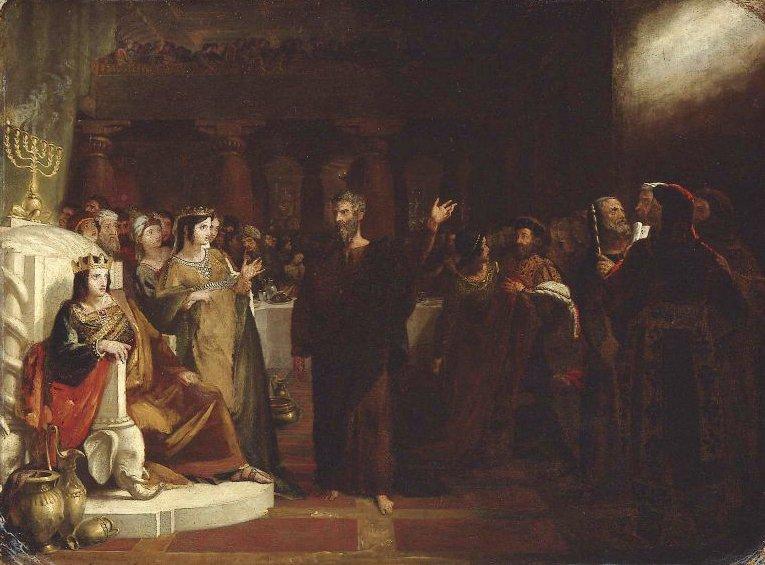 Study for Belshazzars Feast 1817   Washington Allston   oil painting