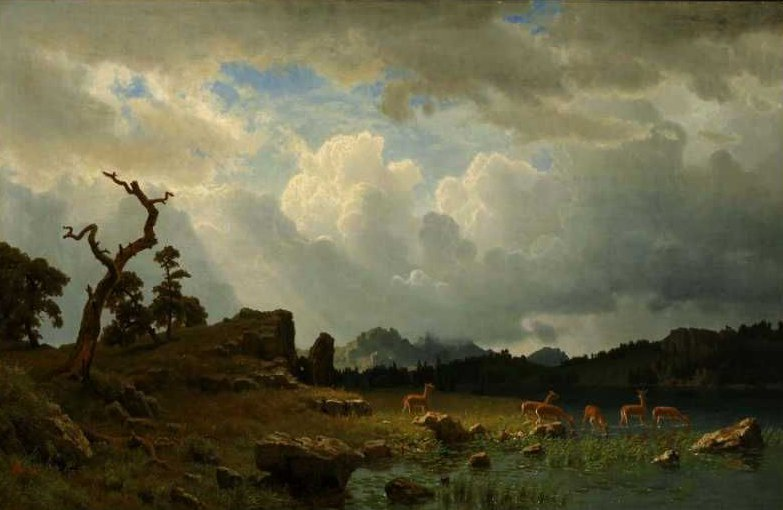 Thunderstorm in the Rocky Mountains 1859 | Albert Bierstadt | oil painting