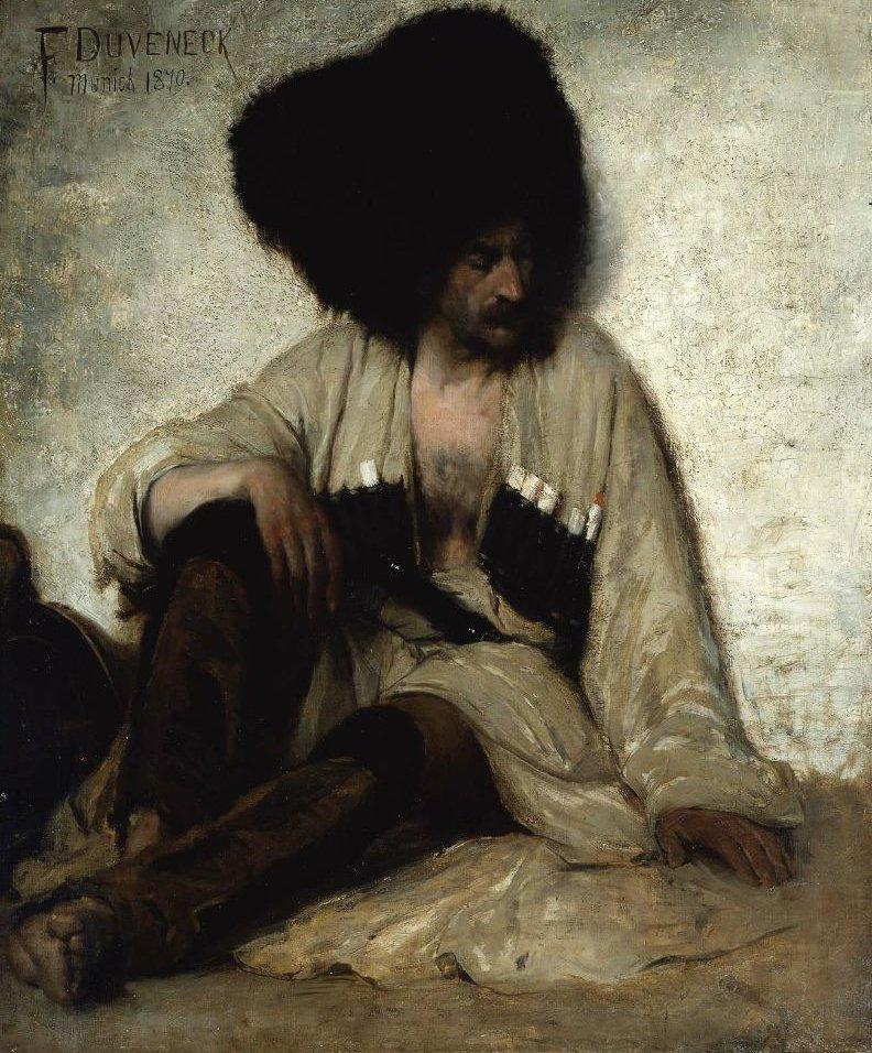 Caucasian Soldier 1870 | Frank Duveneck | oil painting