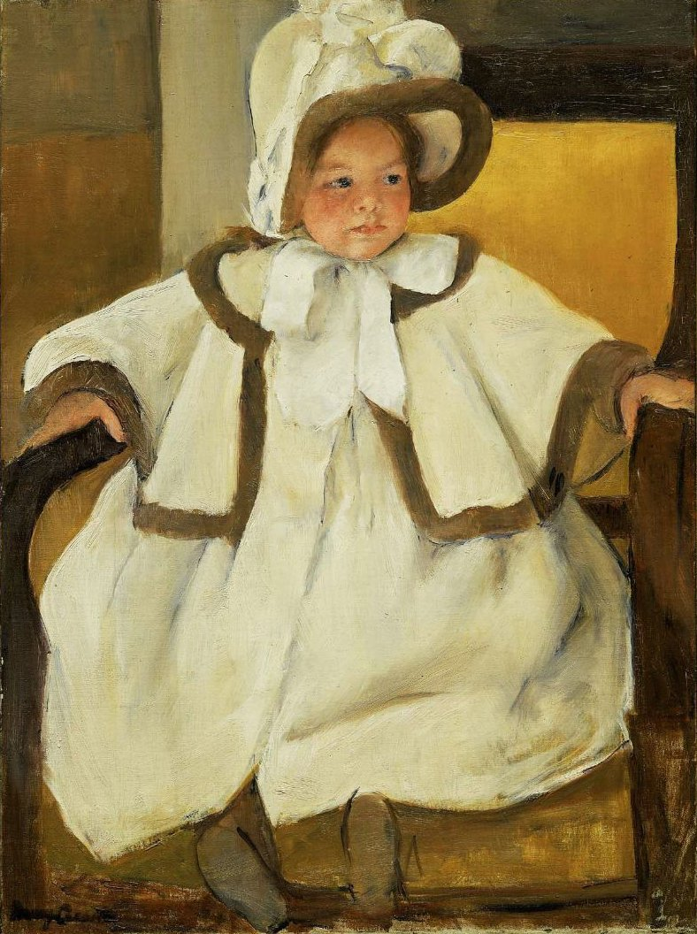 Ellen Mary in a White Coat 1896 | Mary Stevenson Cassatt | oil painting