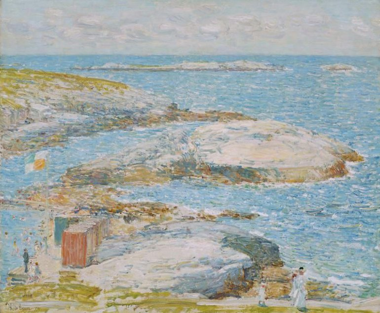 Bathing Pool Appledore 1907 | Childe Hassam | oil painting