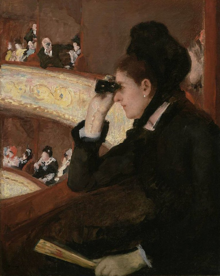 In the Loge 1878 | Mary Stevenson Cassatt | oil painting