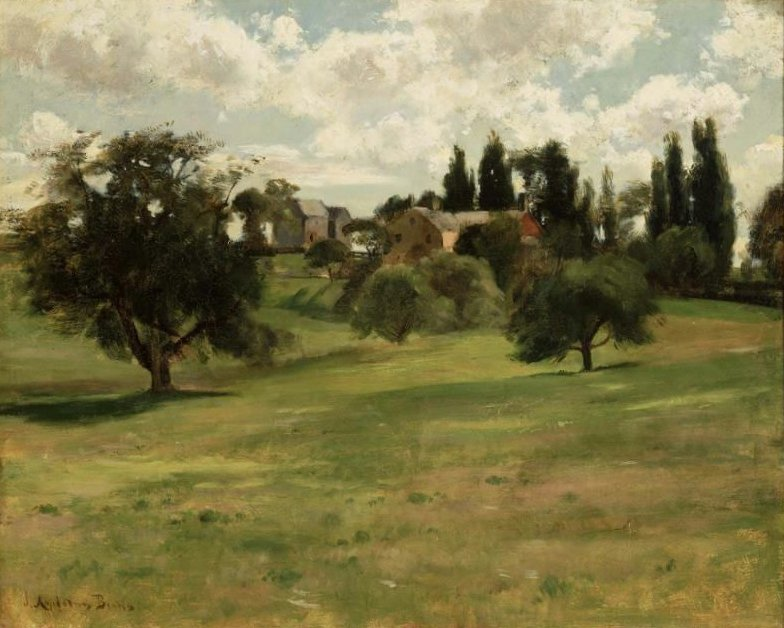 Hillside in Summer 1890s | John Appleton Brown | oil painting