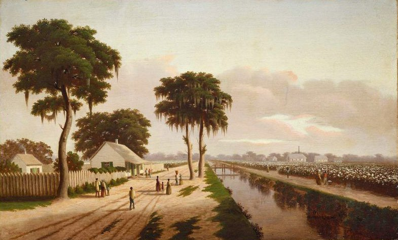 Cotton Plantation 1850s | Charles Giroux | oil painting