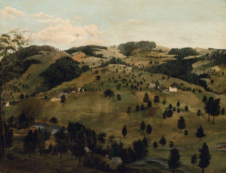 New England Hillside 1830s | Unidentified artist | oil painting