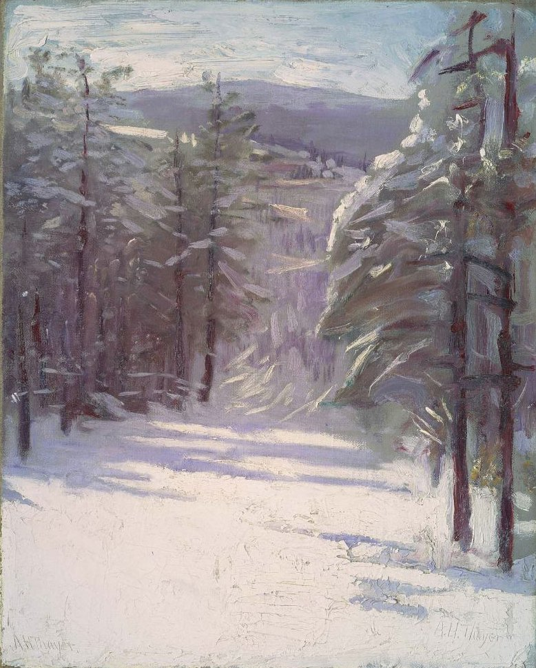 Winter Scene 1901 or after | Abbott Handerson Thayer | oil painting