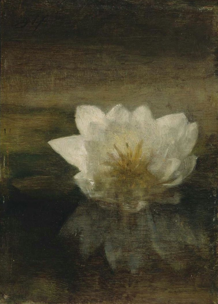Water Lily 1879 | John La Farge | oil painting