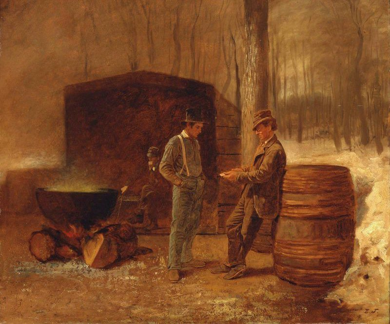Measurement and Contemplation early 1860s   Eastman Johnson   oil painting