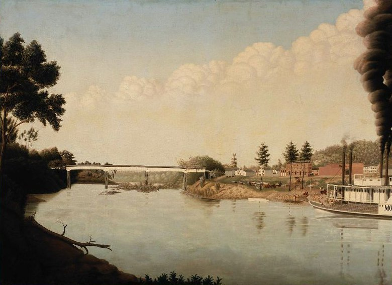 Wetumpka Bridge Alabama 1847 | Adrian E Thompson | oil painting