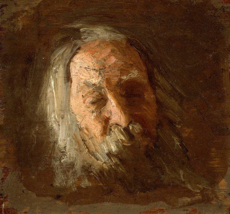 Walt Whitman 1887 | Thomas Eakins | oil painting