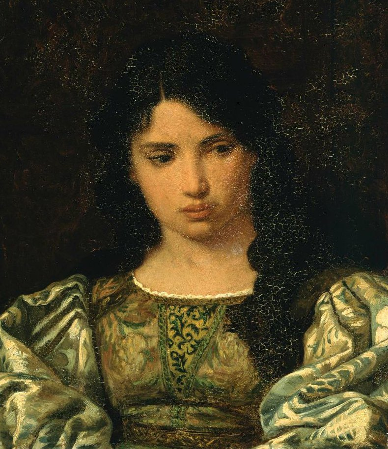 Eugenia Head of a Roman Girl 1879 | Elihu Vedder | oil painting