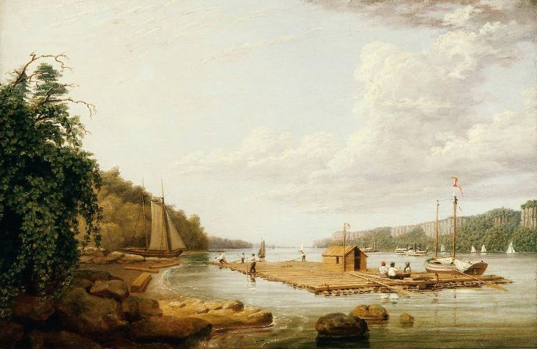 view on the Hudson 1836 | George Harvey | oil painting