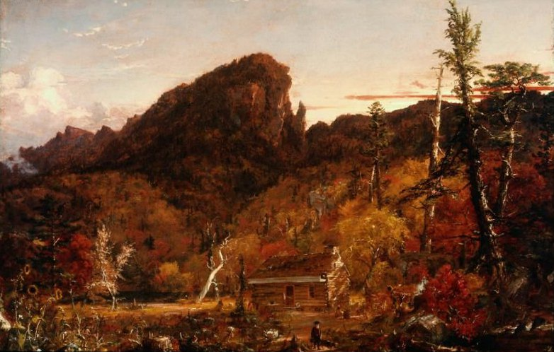 Eagle Cliff New Hampshire 1851 | Jasper Francis Cropsey | oil painting