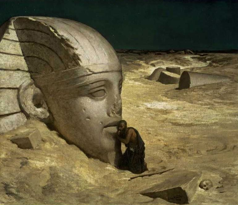 The Questioner of the Sphinx 1863 | Elihu Vedder | oil painting