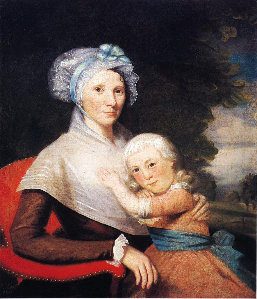 Martha Tennent Rogers and Daughter 1788 | Ralf Earl | oil painting