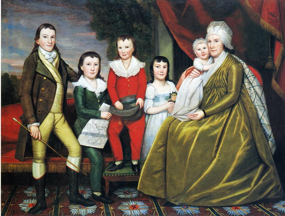 Mrs Noah Smith and Her Children 1798 | Ralf Earl | oil painting
