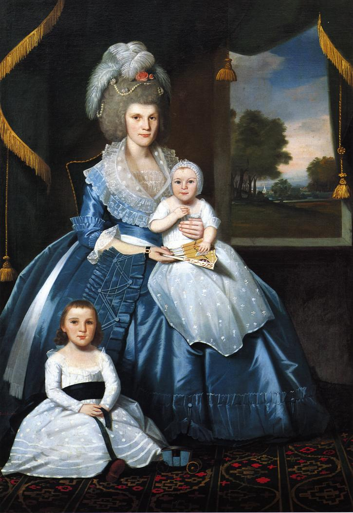 Mrs Benjamin Tallmadge and Son Henry Floyd and Daughter Maria Jones 1790 | Ralf Earl | oil painting
