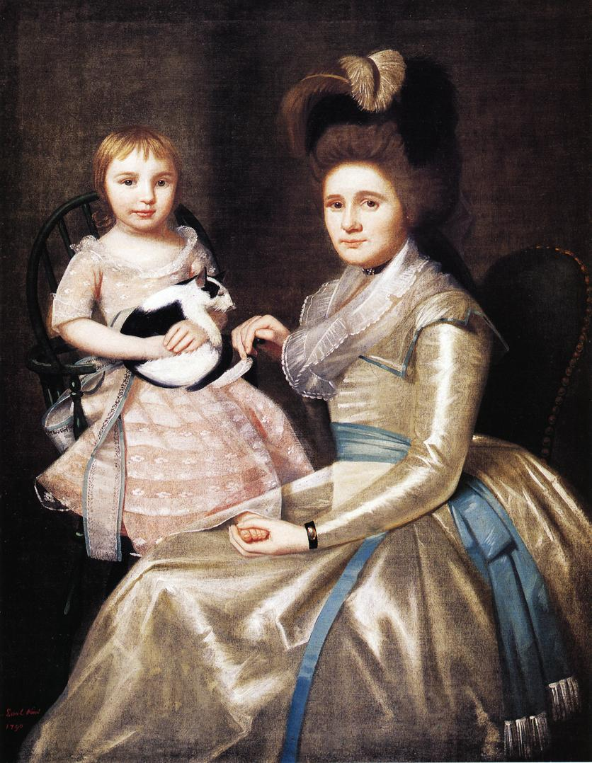 Mrs William Taylor and Son Daniel 1790 | Ralf Earl | oil painting