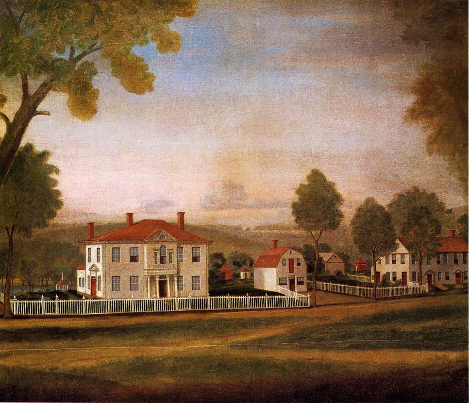 Houses Fronting New Milford Green 1796 | Ralf Earl | oil painting