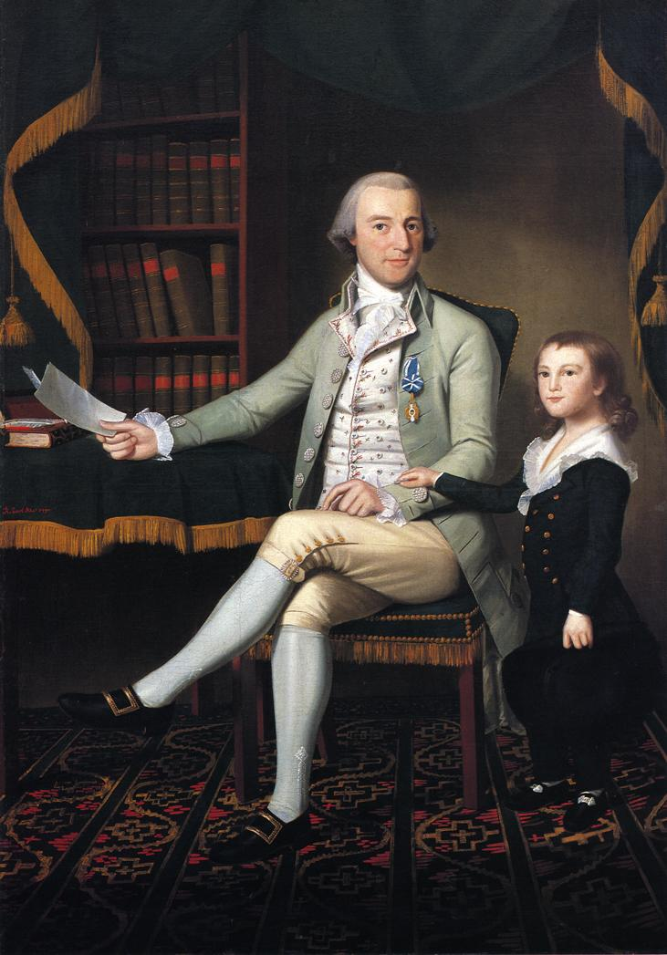 Colonel Benjamin Tallmadge and son William Talmadge 1790 | Ralf Earl | oil painting