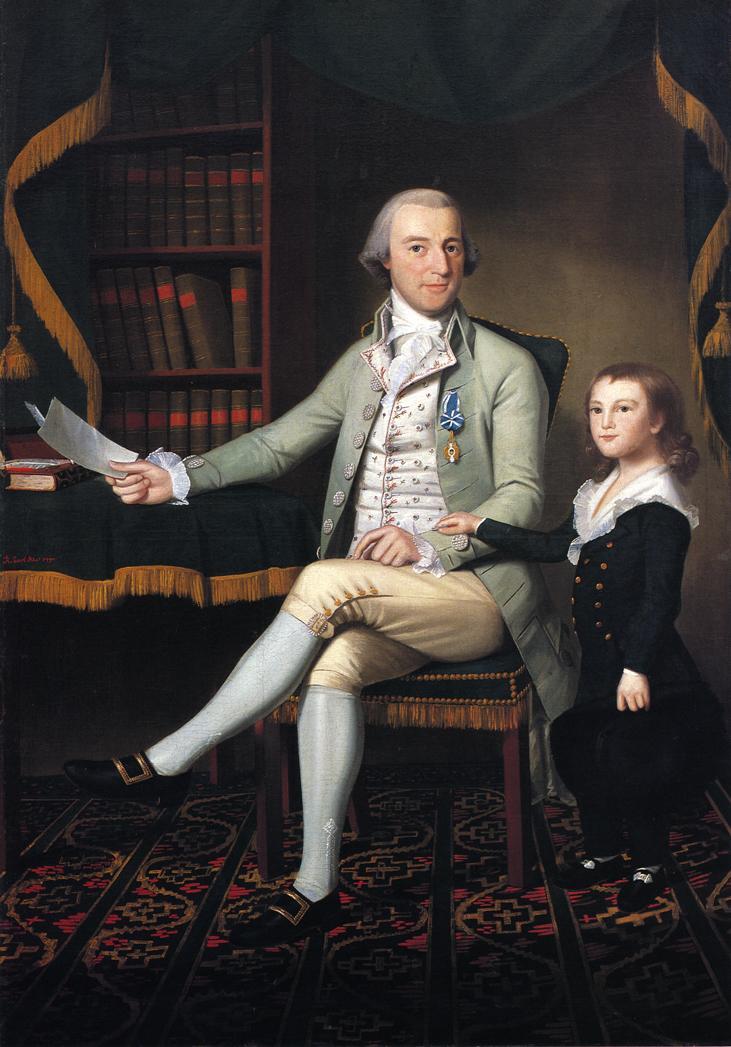 Colonel Benjamin Tallmadge and son William Talmadge 1790 | Ralf Earl | oil painting