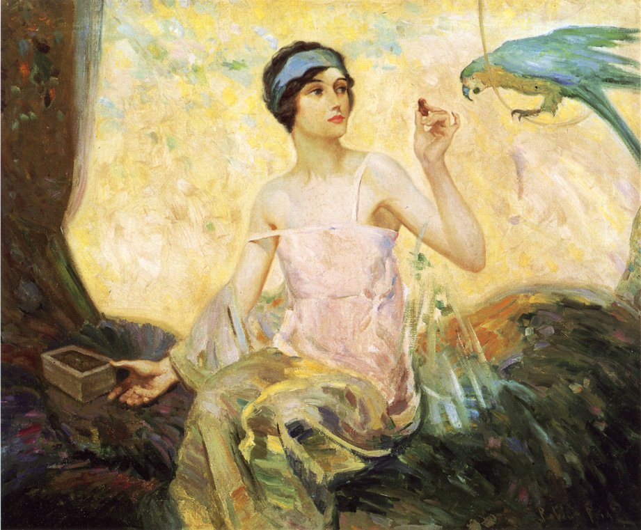 Tempting Sweets 1924 | Robert Lewis Reid | oil painting