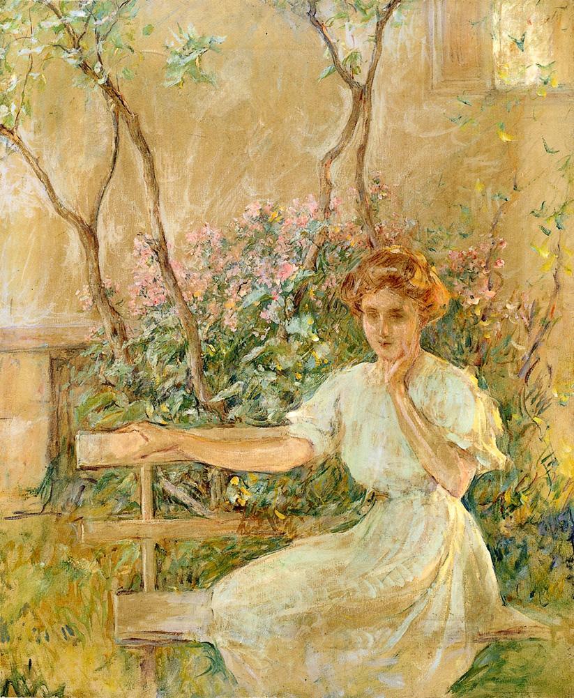 The Garden Seat 1911 | Robert Lewis Reid | oil painting