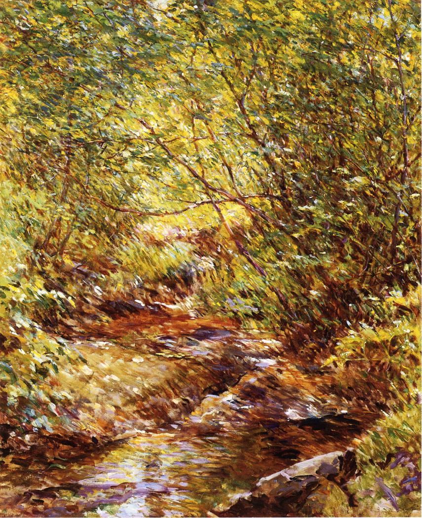 A Woodland Stream Date unknown | Robert Lewis Reid | oil painting