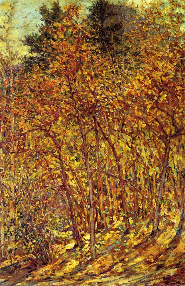 Autumn Sunlight Date unknown   Robert Lewis Reid   oil painting