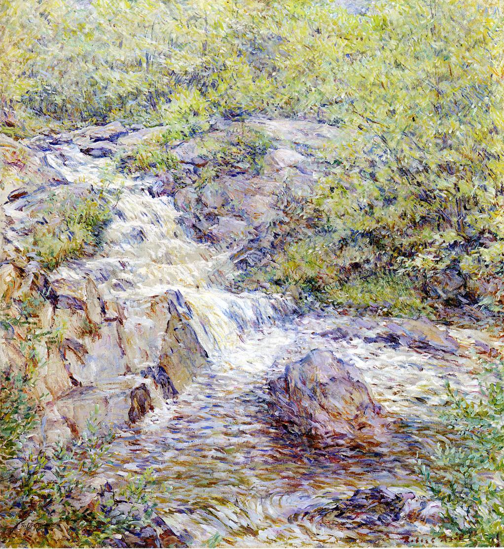 Buttermilk Falls Date unknown | Robert Lewis Reid | oil painting