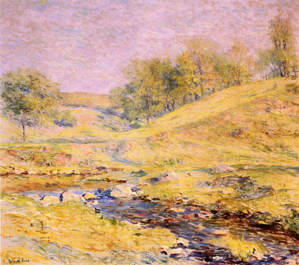Landscape with Stream Date unknown | Robert Lewis Reid | oil painting
