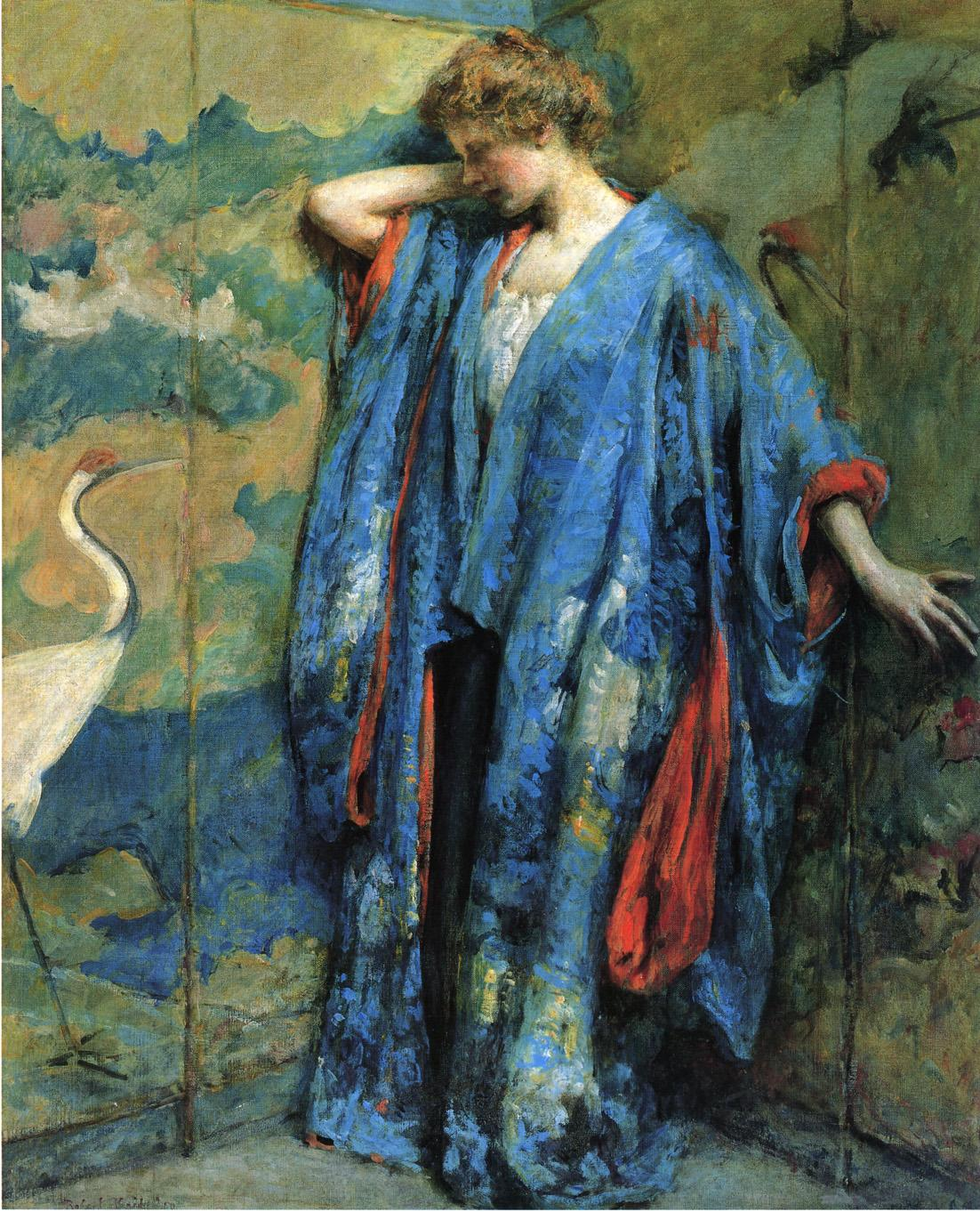 Blue and Yellow 1910 | Robert Lewis Reid | oil painting