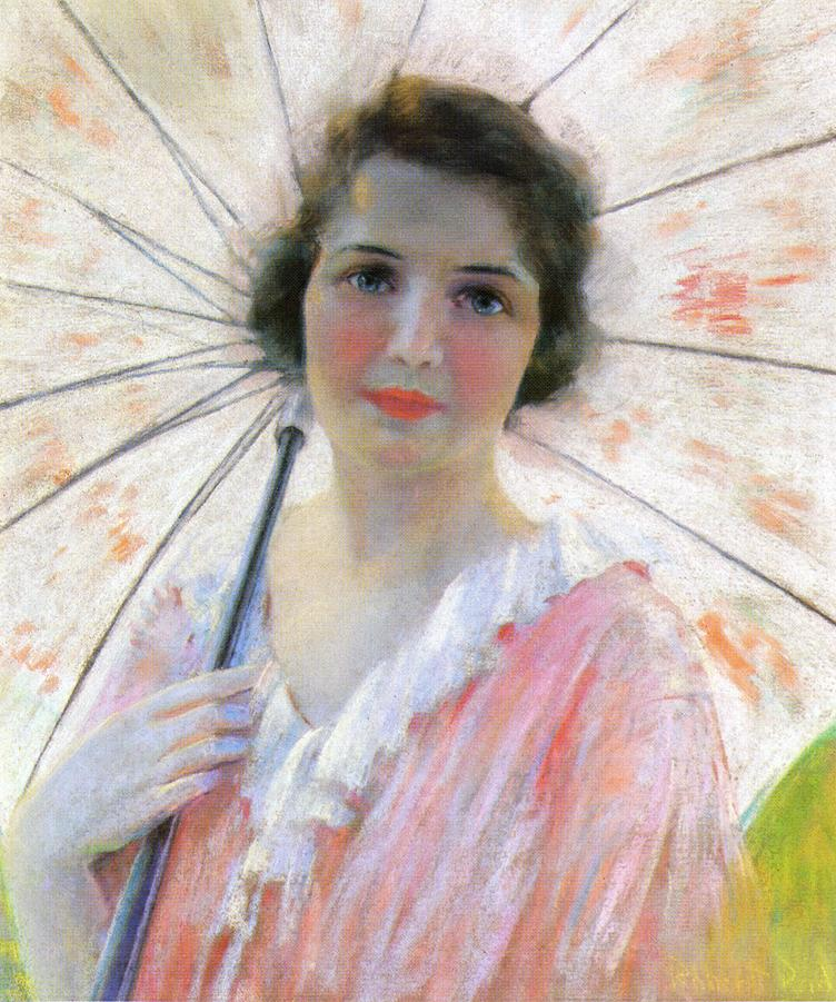 Lady with a Parasol 1921 | Robert Lewis Reid | oil painting