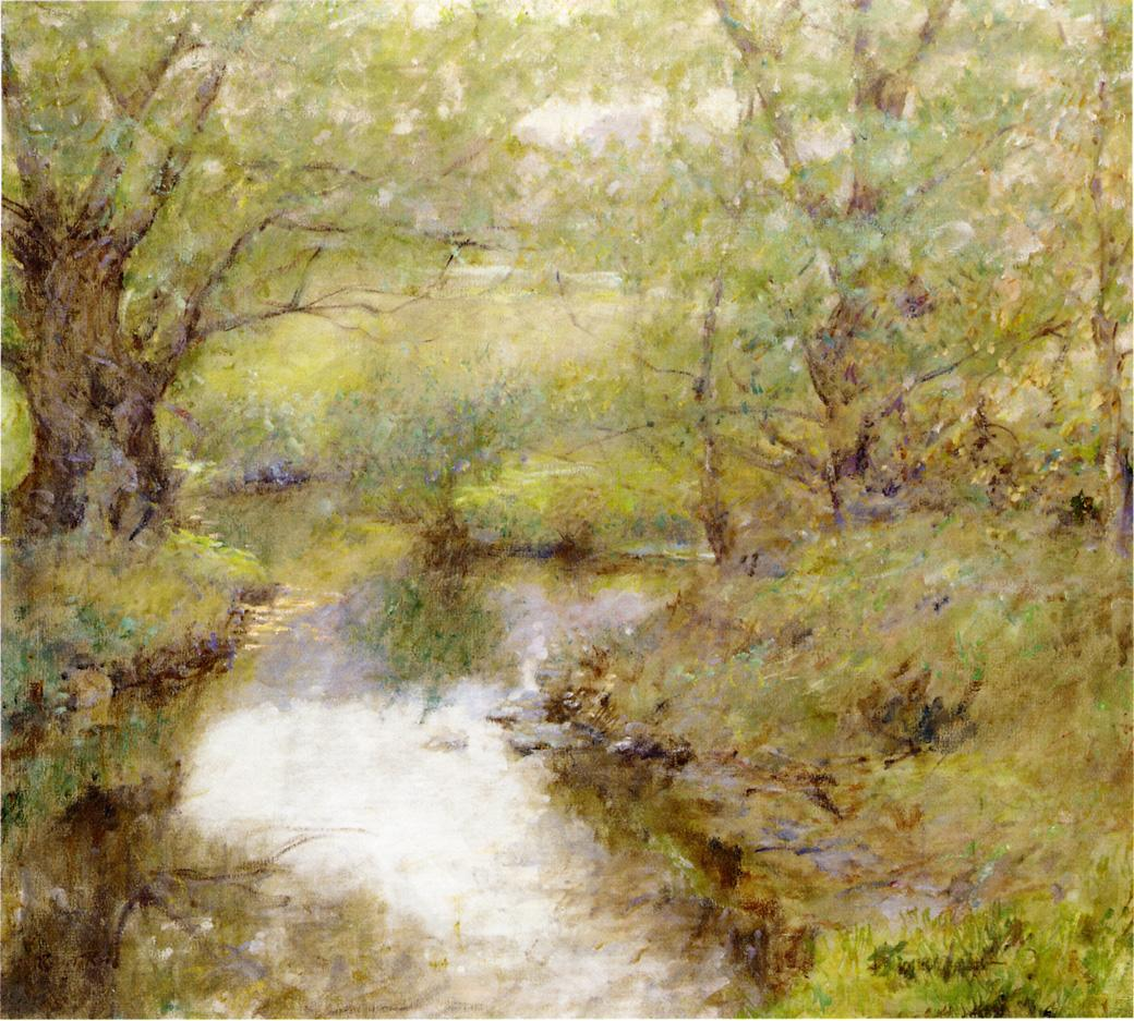 By the Brook Date unknown | Robert Lewis Reid | oil painting