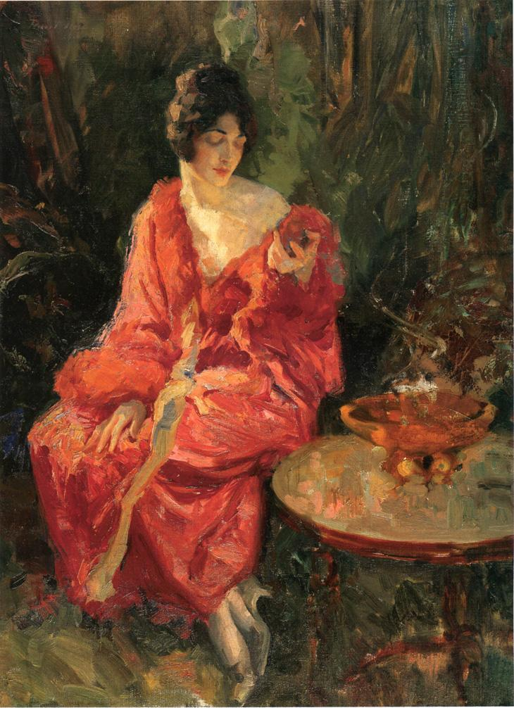 Morning Reflections 1910   Robert Lewis Reid   oil painting