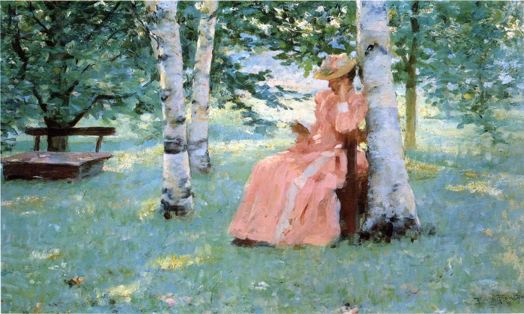 Reverie 1890 | Robert Lewis Reid | oil painting